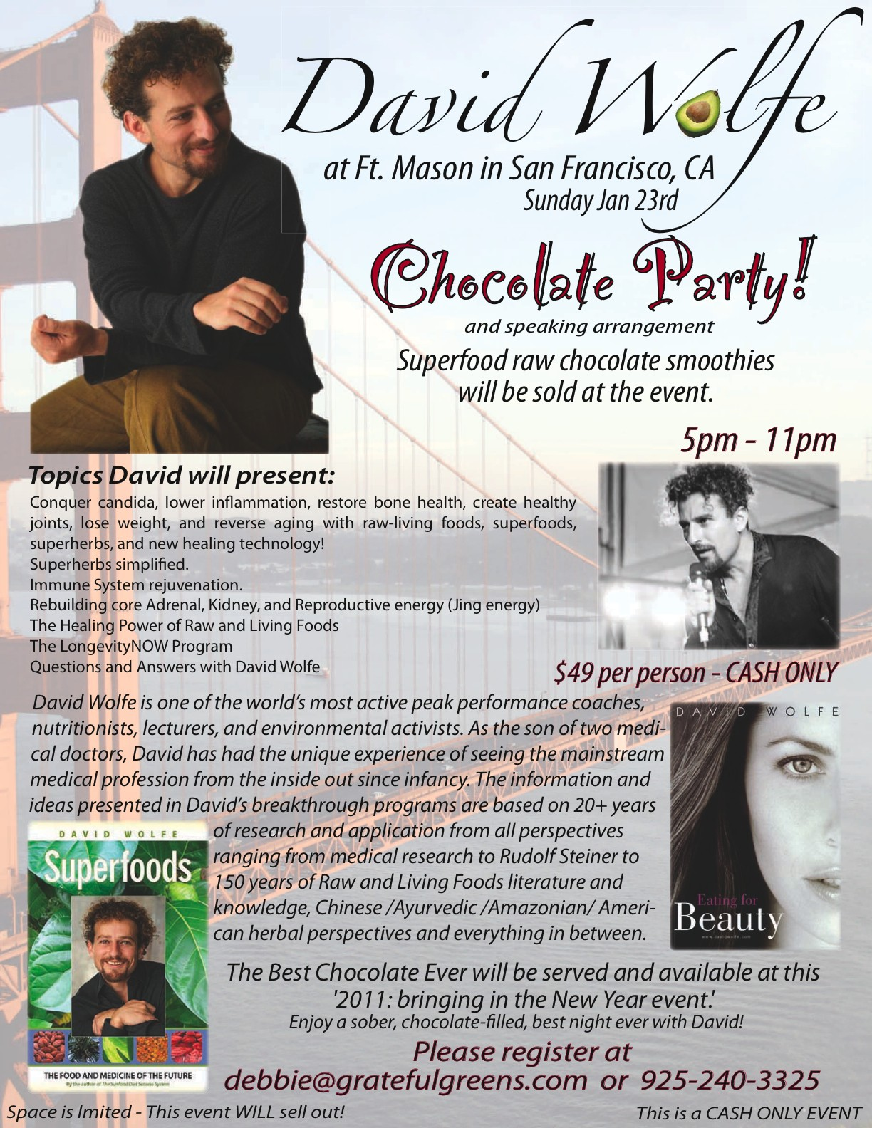 David Wolfe Chocolate Party & Talk